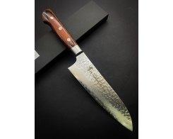 Нож Сантоку Sakai Takayuki Damascus Hammered 07392, 180 мм.