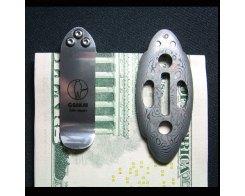 Зажим для денег Samurai Money Clip damascus