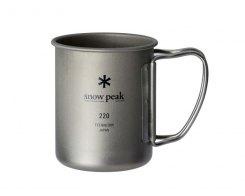 Кружка Snow Peak MG-141, 220 мл (одностенная), титан