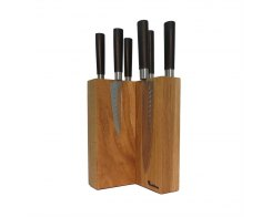 Подставка для ножей магнитная Woodinhome KS003SON 15х24х15 см.
