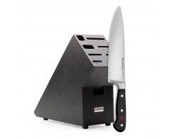 Промо набор, нож «Шеф» 20 см, подставка черный бук Wuesthof Classic 9838-99