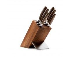 Набор кухонных ножей 6 штук на деревянной подставке Wuesthof Epicure 9854