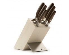 Набор кухонных ножей 6 штук на деревянной подставке Wuesthof Epicure 9856