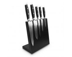 Набор из 5-ти кухонных ножей на подставке из дуба Yaxell Mon YA/MON-KS002LSOBL