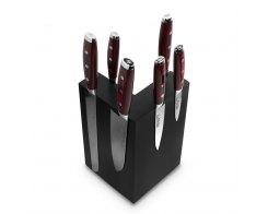 Набор из 6-ти кухонных ножей на подставке из дуба Yaxell GOU 161 YA/SGOU-KS003SOBL