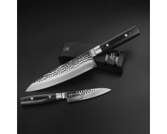 Набор из 2-х кухонных ножей с точилкой, Yaxell Zen, YA35500-003, 37 слоёв.