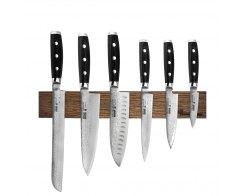 Набор из 6-ти кухонных ножей на магнитном держателе из дуба Yaxell GOU 101 YA/GOU-KS001SON