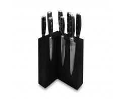 Набор из 8-ми кухонных ножей на подставке из дуба, Yaxell Gou 101, YA/GOU-KS009SOBL