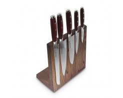Набор из 5-ти кухонных ножей на подставке из дуба Yaxell GOU 161 YA/SGOU-KS002LSOB