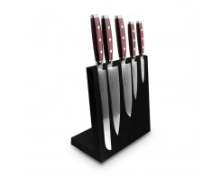 Набор из 5-ти кухонных ножей на подставке из дуба Yaxell GOU 161 YA/SGOU-KS002LSOBL