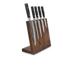 Набор из 5-ти кухонных ножей на подставке из дуба Yaxell Zen YA/Zen-KS002LSOB